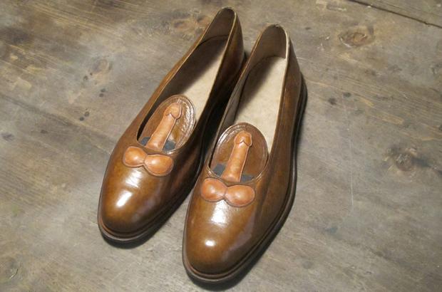 HC-Handel - Pantofole in peluche a forma di pene, taglia unica