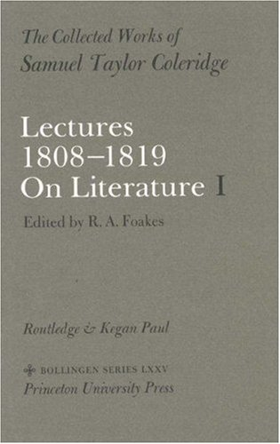 Lectures 1808 1819 On Literature