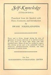 Self-Knowledge: Sankara's ″Atmabodha″