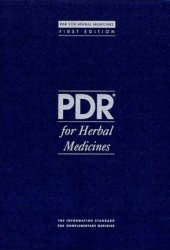 Physician's Desk Reference (PDR) for Herbal Medicines