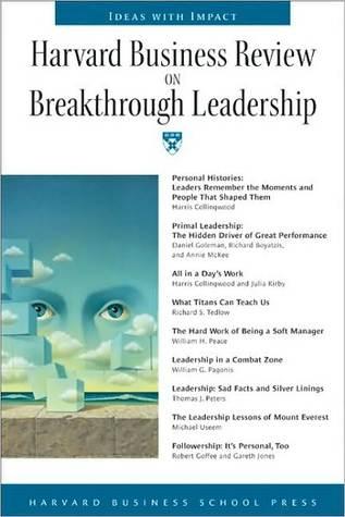 HBR on Breakthrough Leadership