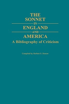 The Sonnet in England and America: A Bibliography of Criticism