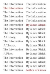 The Information: A History, a Theory, a Flood Book