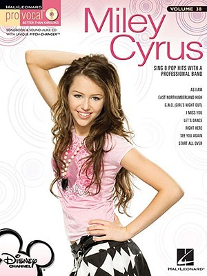 Miley Cyrus - Pro Vocal Song Book & Cd for Female Singers Vol.38