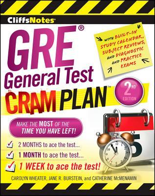 Cliffsnotes GRE General Test Cram Plan 2nd Edition