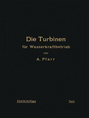 Die Turbinen Fur Wasserkraftbetrieb: Ihre Theorie Und Konstruktion