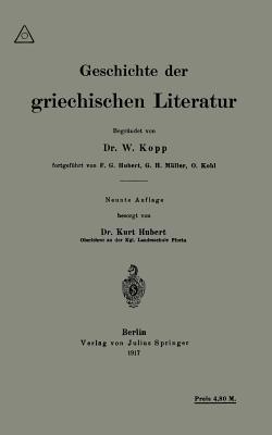 Geschichte Der Griechischen Literatur