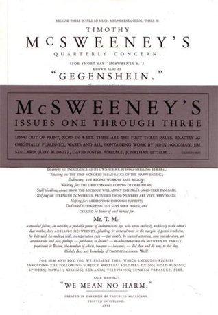 McSweeney's #1-3