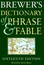Brewer's Dictionary of Phrase and Fable Book