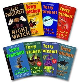 Pratchett 8 Book Set: Night Watch / Truth / Carpe Jugulum / Color of Magic / Fifth Elephant / Light Fantastic / Equal Rites / Thief of Time