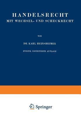 Handelsrecht Mit Wechsel- Und Scheckrecht