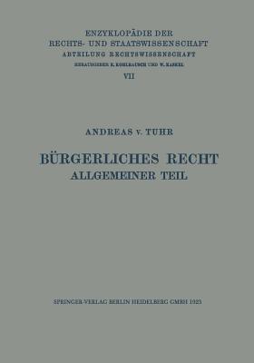 Burgerliches Recht Allgemeiner Teil