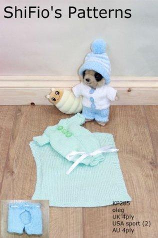Knitting Pattern - KP285 - Baby Toy Meerkat clothes knitting pattern