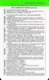 Tarascon Cardiac Arrest/Emergency Reference Card 2008