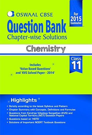 Oswaal CBSE Question Bank Chapter-Wise Solutions for Class 11 Chemistry