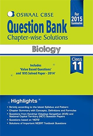 Oswaal CBSE Question Bank Chapter-Wise Solutions for Class 11 Biology