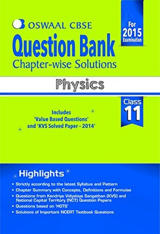 Oswaal CBSE Question Bank Chapter-Wise Solutions for Class 11 Physics