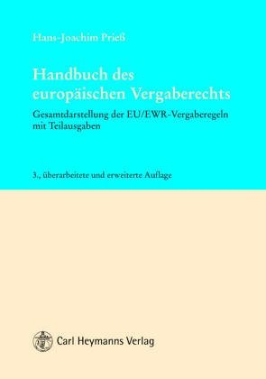 Handbuch des europäischen Vergaberechts