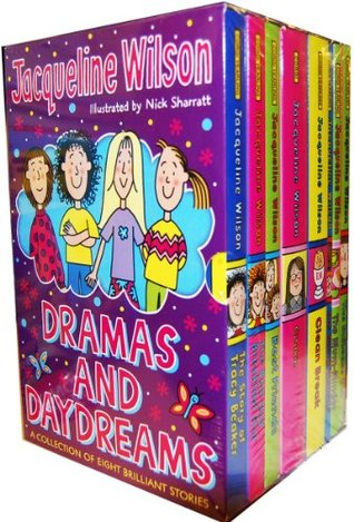 Jacqueline Wilson 8 Book Dramas and Daydreams Collection: The Suitcase Kid, The Mum-Minder, The Worry Website, Clean Break, Cookie, Best Friends, The Bed and Breakfast Star, The Story of Tracy Beaker