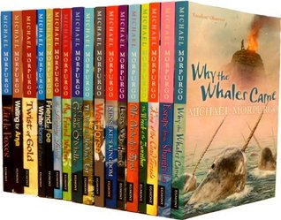 Michael Morpurgo Children Collection 17 Books Set (Twist of Gold, Sleeping Sword, Why The Whales Came, Escape From Shangri - La, King Of The Cloud Forest, The Wreck Of The Zanzibar, Mr Nobody's Eyes, Long Way Home, Kensuke's Kingdom, War Horse, etc)