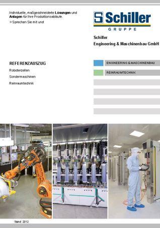 Schiller Engineering & Maschinenbau, Reinraumtechnik; Referenzauszug