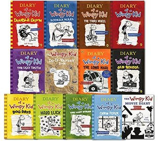 Diary of a Wimpy Kid Collection 13 Books Set (Double Down Old School Hard Luck Third Wheel Cabin fever The Ugly Truth Dog Days Do-It-Yourself Book Diary of A Wimpy Kid Rodrick Rules..