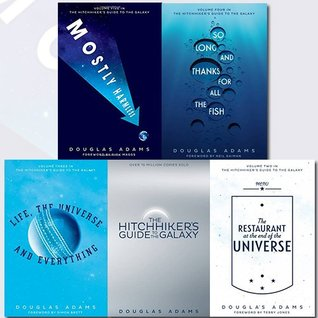 Hitchhiker's Guide to the Galaxy Series Douglas Adams Collection 5 Books Bundle