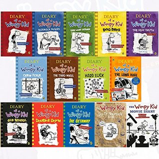 diary of a wimpy kid complete collection 14 books set by jeff kinney (diary of a wimpy kid,rodrick rules,the last straw,dog days,the ugly truth,the getaway [hardcover] ,double down,the wimpy kid movie
