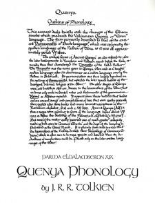 Parma Eldalamberon XIX: Quenya Phonology: Comparative Tables, Outline of Phonetic Development, Outline of Phonology