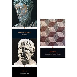 Meditations, letters from a stoic and discourses and selected writings 3 books collection set