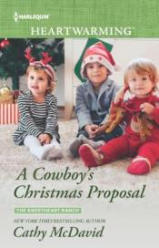 The Cowboy's Christmas Proposal cover (hint: it apparently involves a small set of triplets in holiday clothing)