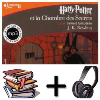 Harry Potter, II : Harry Potter et la Chambre des Secrets Audiobook PACK [book + 2 CD MP3]