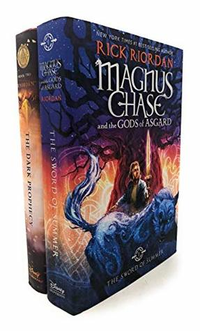 Rick Riordon Deluxe 2 Books Collection Set (Magnus Chase And The Gods Of Asgard, The Trials Of Apollo (Book Two) The Dark Prophecy)