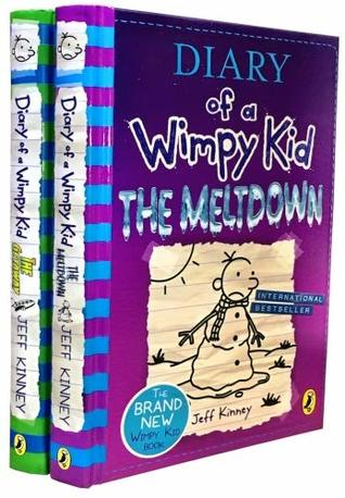 Diary of a Wimpy Kid 2 Books Collection Set The Meltdown, The Getaway by Jeff Kinney