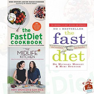 Fastdiet Cookbook, The Midlife Kitchen [Hardcover] and The Fast Diet 3 Books Bundle Collection With Gift Journal