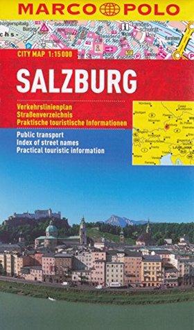 Salzburg (Austria) 1:15,000 Street Map, laminated MARCOPOLO