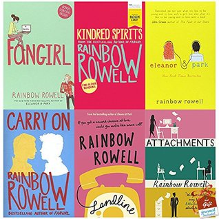 Rainbow Rowell Collection 6 Books Bundle With Gift Journal (Fangirl, Kindred Spirits: World Book Day Edition 2016, Eleanor & Park, Carry On, Landline, Attachments)