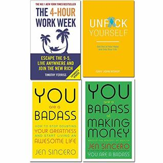 4 Hour work week, unfck yourself, you are a badass, you are a badass at making money 4 books collection set