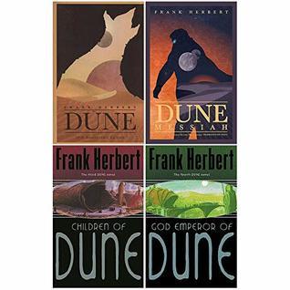 Dune Series 1 to 4 Book : 4 Books Collection Set (Dune,Dune Messiah,Children Of Dune: The Third Dune Novel,God Emperor Of Dune: The Fourth Dune Novel)