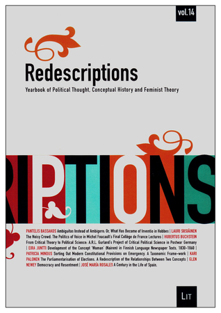 Redescriptions: Yearbook of Political Thought, Conceptual History and Feminist Theory, Vol. 14