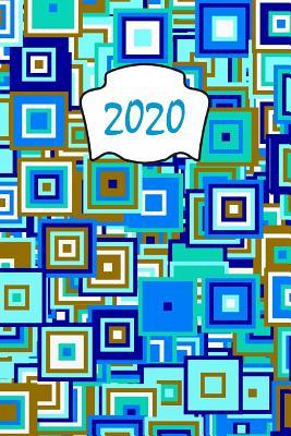 2020: Calendario e Agenda settimanale 2020 + calendario mensile + 20 pagine Indirizzi +20 pagine foderate +20 pagine Blanco per schizzi - Popart turchese