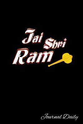 Journal Daily: JAI SHRI RAM Hanuman Gada Notebook, Mandala Backcover, Lined Blank Journal, 6 x 9, 120 White Color Pages, Matte Finish Cover.