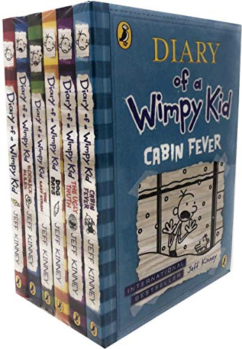 Diary of a Wimpy Kid Collection 6 Books Set By Jeff Kinney