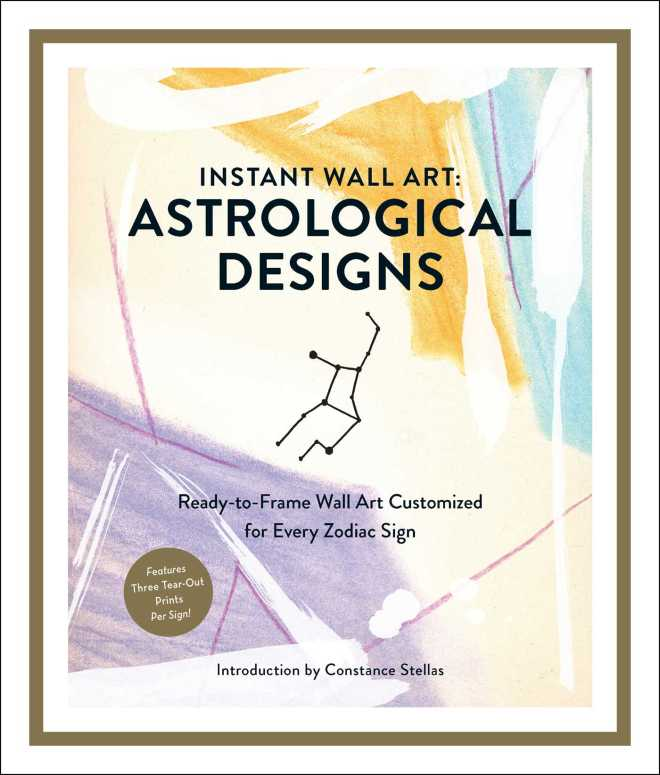 Instant Wall Art: Astrological Designs: Ready-to-Frame Wall Art Customized for Every Zodiac Sign