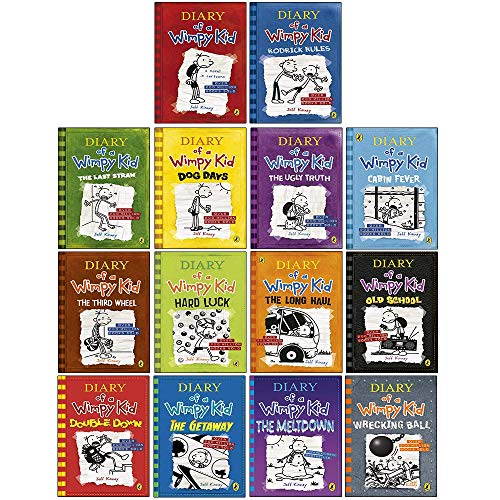Diary of a Wimpy Kid Series Collection 14 Books Set By Jeff Kinney