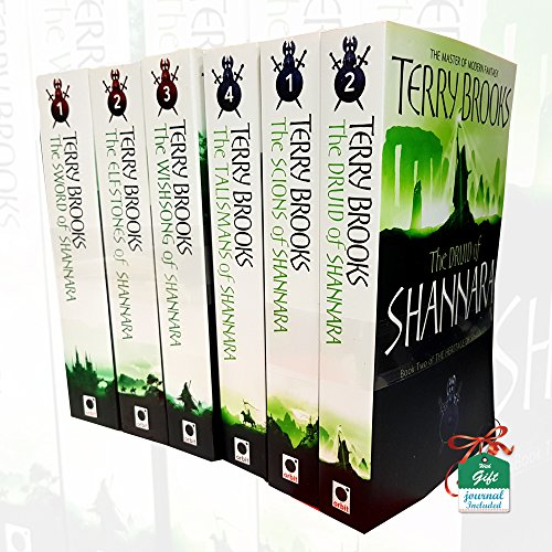 Terry Brooks Collection Shannara Chronicles and Heritage of Shannara Series 6 Books Bundle With Gift Journal