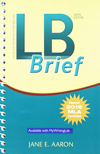 LB Brief [Untabbed Version] The Little Brown Handbook, Brief Version, MLA Update; Pearson Writer -- Standalone Access Card, Writer -- 12 Month Access (6th Edition)