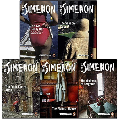inspector maigret series 3 :11 to 15 books collection set by georges simenon