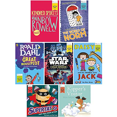 World Book Day 2016 Collection 7 Books Set (Kipper's Visitor, Supertato Hap-pea Ever After, Kindred Spirits, The Great Mouse Plot, Daisy and the Trouble With Jack, The World of Norm, The Escape (Star Wars))
