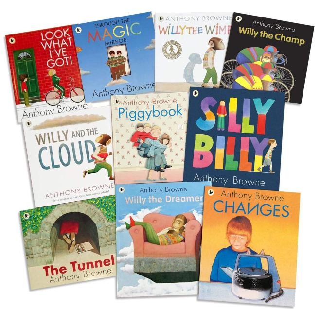 The Anthony Browne 10 Picture Books Collection- Look What I've Got, Through the Magic Mirror, Willy the Wimp, Willy the Champ, Willy and the Cloud, Willy the Dreamer, Piggybook, Silly Billy..etc